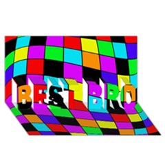 Colorful Cubes  Best Bro 3d Greeting Card (8x4)  by Valentinaart
