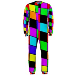 Colorful Cubes  Onepiece Jumpsuit (men)  by Valentinaart