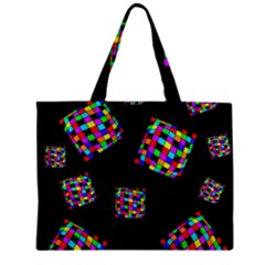 Flying  Colorful Cubes Zipper Mini Tote Bag by Valentinaart
