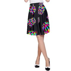 Colorful Abstraction A Line Skirt by Valentinaart