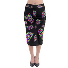 Colorful Abstraction Midi Pencil Skirt by Valentinaart