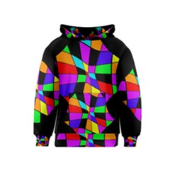 Abstract Colorful Flower Kids  Pullover Hoodie by Valentinaart