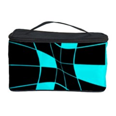 Blue Abstract Flower Cosmetic Storage Case by Valentinaart