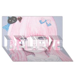 Slow Spring Believe 3d Greeting Card (8x4)  by kaoruhasegawa