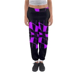 Purple Abstract Flower Women s Jogger Sweatpants by Valentinaart