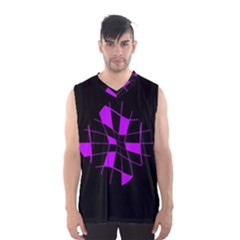 Purple Abstract Flower Men s Basketball Tank Top