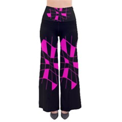 Pink Abstract Flower Pants by Valentinaart
