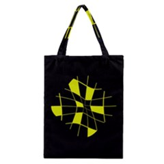 Yellow Abstract Flower Classic Tote Bag
