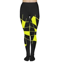 Yellow Abstract Flower Women s Tights