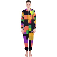 Colorful Abstraction Hooded Jumpsuit (ladies)