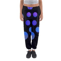 Blue Circles  Women s Jogger Sweatpants by Valentinaart