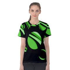 Green Balls   Women s Cotton Tee by Valentinaart