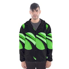 Green Balls   Hooded Wind Breaker (men) by Valentinaart
