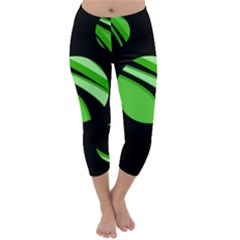 Green Balls   Capri Winter Leggings  by Valentinaart