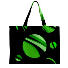 Green Balls   Zipper Mini Tote Bag