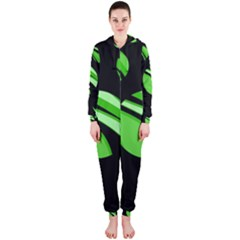 Green Balls   Hooded Jumpsuit (ladies)  by Valentinaart