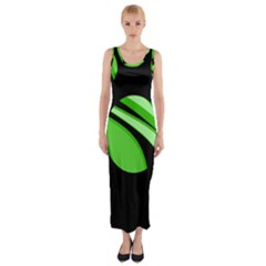 Green Balls   Fitted Maxi Dress by Valentinaart