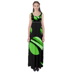 Green Balls   Empire Waist Maxi Dress