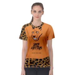 Dirty Cheetah Getgood Women s Mesh Tshirt Round   Orange by DirtyCheetahs