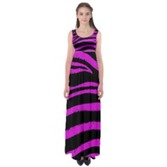 Pink Zebra Empire Waist Maxi Dress
