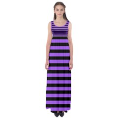 Purple Stripes Empire Waist Maxi Dress