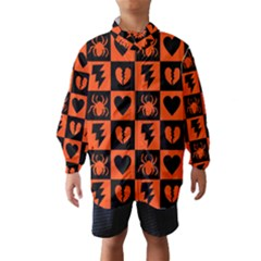 Goth Punk Checkers Wind Breaker (kids)