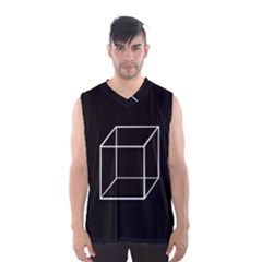 Simple Cube Men s Basketball Tank Top by Valentinaart