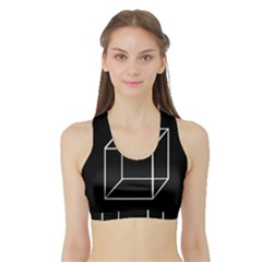 Simple Cube Sports Bra With Border by Valentinaart