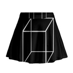 Simple Cube Mini Flare Skirt