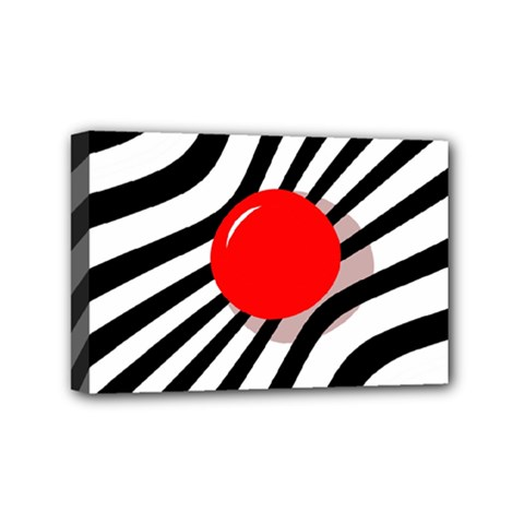 Abstract Red Ball Mini Canvas 6  X 4  by Valentinaart