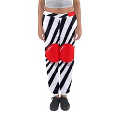Abstract Red Ball Women s Jogger Sweatpants by Valentinaart
