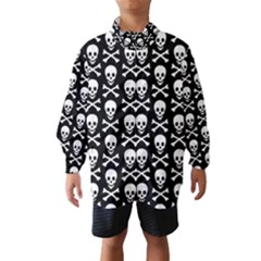 Skull And Crossbones Pattern Wind Breaker (kids) by ArtistRoseanneJones