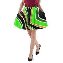 Colors Of 70 s A Line Pocket Skirt