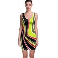 Colors Of 70 s Sleeveless Bodycon Dress by Valentinaart