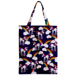 Retro Rainbows And Unicorns Classic Tote Bag by BubbSnugg