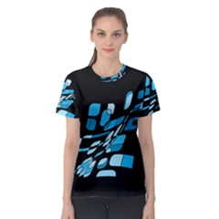Blue Abstraction Women s Sport Mesh Tee by Valentinaart
