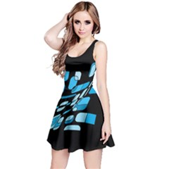 Blue Abstraction Reversible Sleeveless Dress by Valentinaart