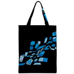 Blue Abstraction Zipper Classic Tote Bag by Valentinaart