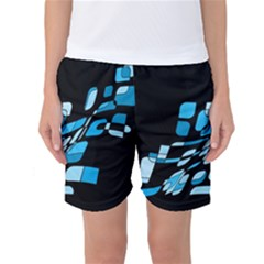 Blue Abstraction Women s Basketball Shorts by Valentinaart