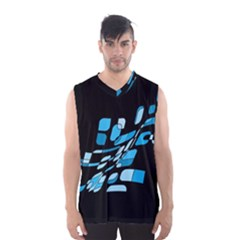 Blue Abstraction Men s Basketball Tank Top