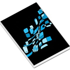 Blue Abstraction Large Memo Pads