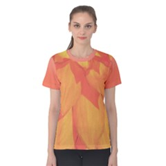 Orange Flower Women s Cotton Tee