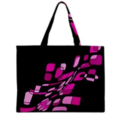 Purple Abstraction Zipper Mini Tote Bag by Valentinaart