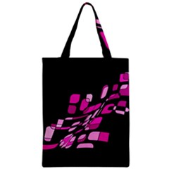 Purple Abstraction Zipper Classic Tote Bag by Valentinaart