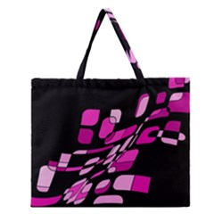 Purple Abstraction Zipper Large Tote Bag by Valentinaart