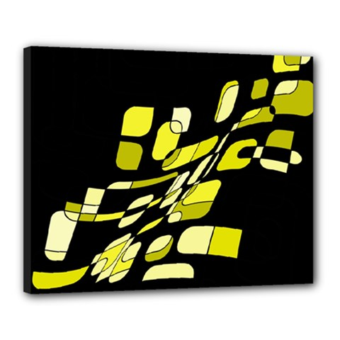 Yellow Abstraction Canvas 20  X 16  by Valentinaart