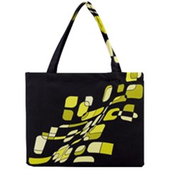 Yellow Abstraction Mini Tote Bag by Valentinaart