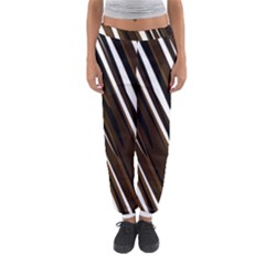 Black Brown And White Camo Streaks Women s Jogger Sweatpants by TRENDYcouture