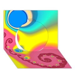 Distinction Circle 3d Greeting Card (7x5)