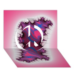 Liquid Roses Peace Sign 3d Greeting Card (7x5)